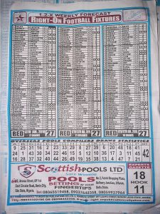 Week 27 Right On Fixtures Back Page