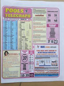 Week 29 Pools Telegrpah 2021 Page 1