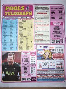 Week 31 Pools Telegraph 2021 Page 1