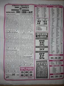 Week 31 Pools Telegraph 2021 Page 2