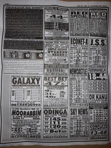 Week 31 Pools Telegraph 2021 Page 4