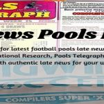 Week 33 Pool Late News Papers 2021: Bigwin Soccer, Pools Telegraph