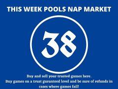 Week 38 Pool Nap Market 2021: Nap Draws Market This Weekend