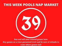 Week 39 Pool Nap Market 2021: Nap Draws Market This Weekend