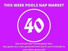 Week 40 Pool Nap Market 2021: Nap Draws Market This Weekend