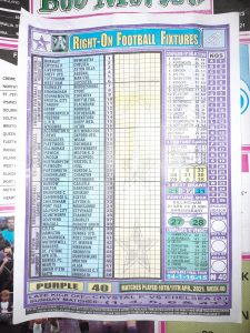 week 40 right on fixtures front page