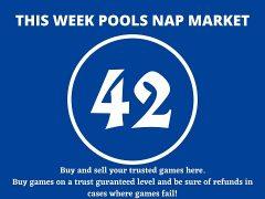 Week 42 Pool Nap Market 2021: Nap Draws Market This Weekend