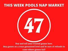 Week 47 Pool Nap Market 2021: Nap Draws Market This Weekend