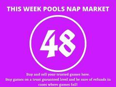 Week 48 Pool Nap Market 2021: Nap Draws Market This Weekend