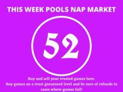 Week 52 Pool Nap Market 2021: Nap Draws Market This Weekend