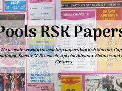 Week 1 Pool RSK Papers 2021: Bob Morton, Capital Intl, Soccer X Research, Winstar, BigWin