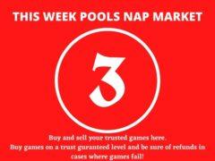 Week 3 Pool Nap Market 2021: Nap Draws Market This Weekend