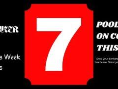 Pool Draw This Week 7; Pool Banker Room 2021: Banker Room This Week
