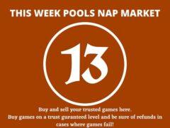 Week 13 Pool Nap Market 2021: Nap Draws Market This Weekend